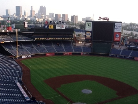 Good morning from Turner Field.
