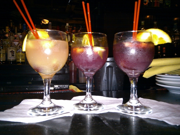 a selection of sangria