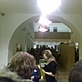 Waiting in line to get in