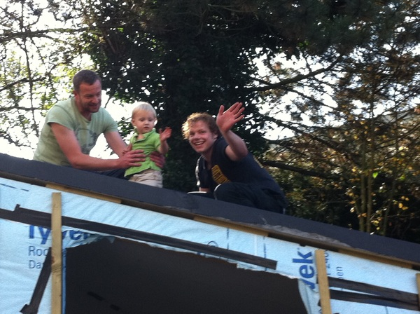 Fletcher of the day: on the roof with Erik and Rik