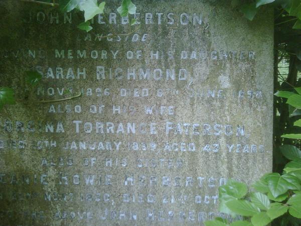 Herbertson Ancestry, Glasgow, Scotland