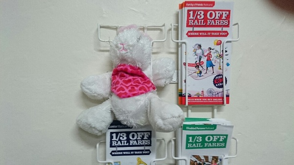 Free the #Stowmarket 1. Rescue your child's toy from the @greateranglia waiting room on platform 1.