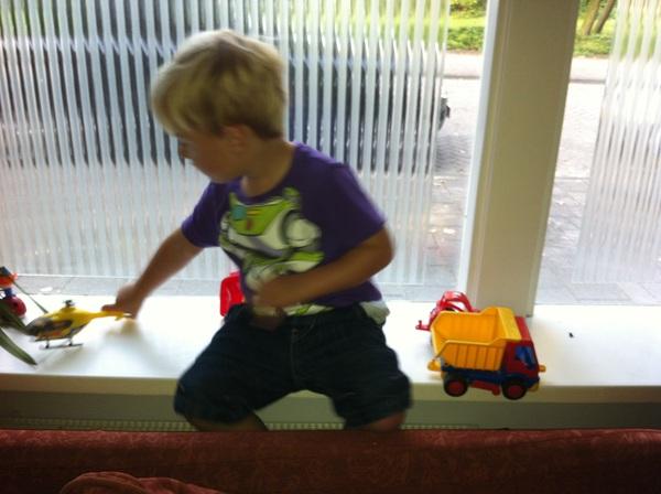 Fletcher of the day: windowsill
