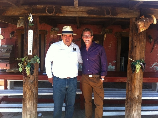 Filming with the legendary cheese maker in Ojos Negros, Marcelo Ramonetti, at his idyllic ranch.