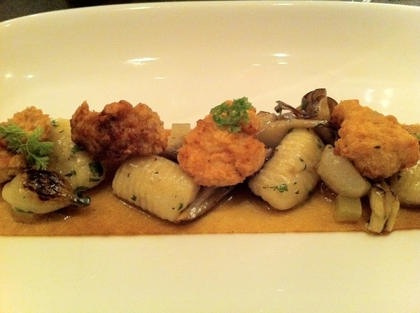 Lovely, lovely dinner at Sepia! Stellar sweetbreads w quince, smoked potato gnocchi, mushrooms