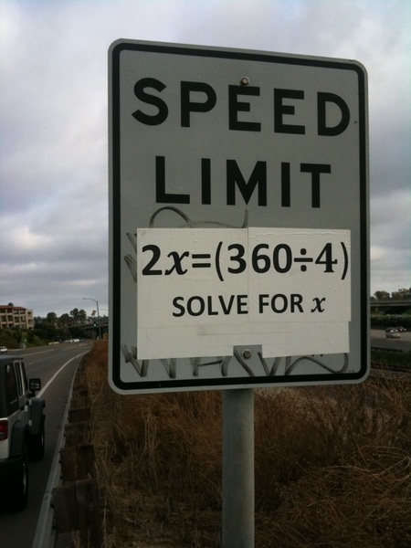 Once in a while vandalism can be funny! This is in #SanDiego #math