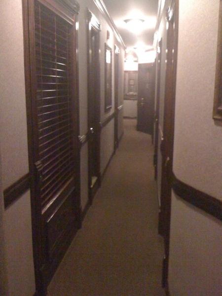 My cool NYC hotel hallway. It's skinny - like 2 ft. wide. #hotel17
