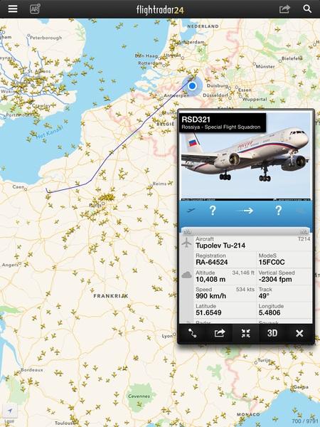 Poetin onderweg naar huis? Cc @r0eland #Flightradar