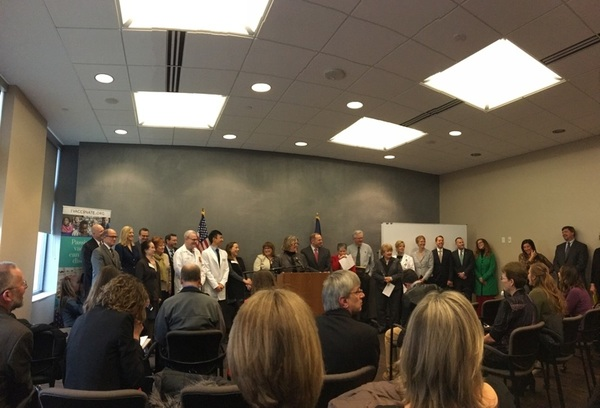 It's a packed house at today's I Vaccinate news conference. #vaccination #ivaccinate
