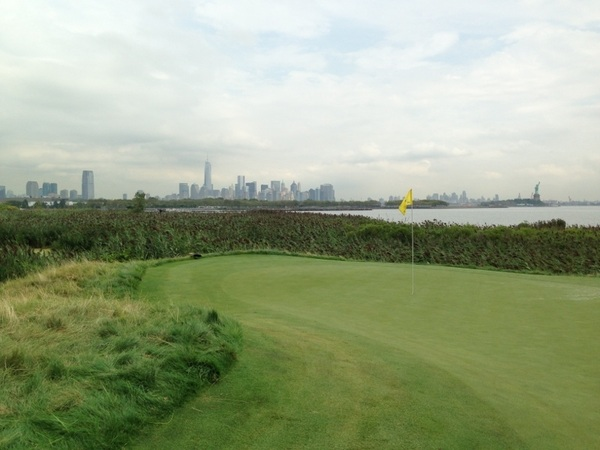 Down on the 14th you have a view of Lady Liberty, Jersey City, Manhattan and Brooklyn...