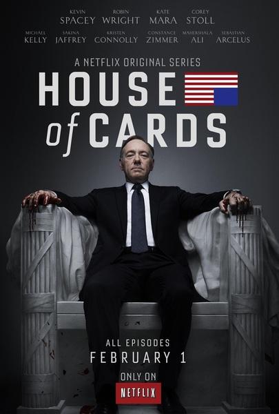 Ik kijk House of Cards op Netflix.