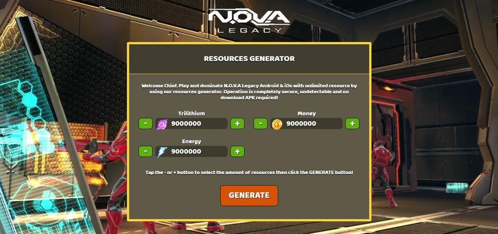 download nova legacy hack money