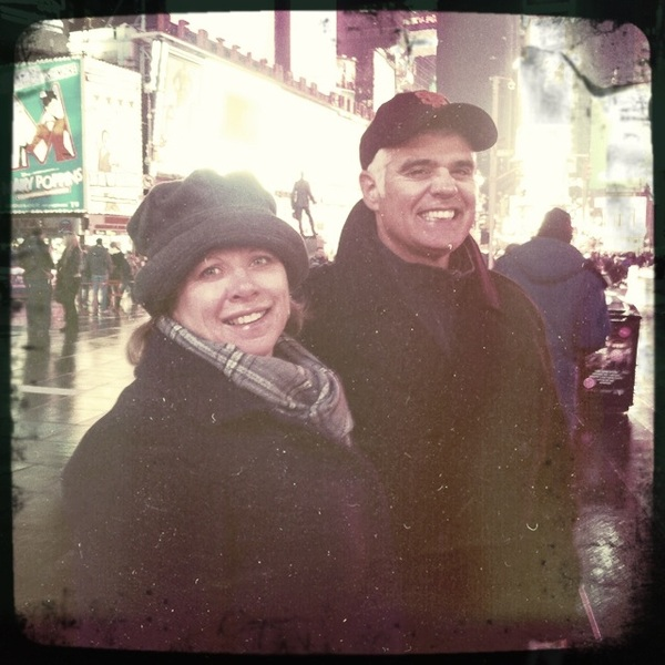 At Times Square with Connie and Tim