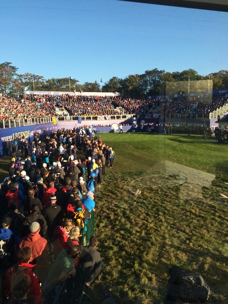 Our view from the studio over the 1st tee!! #atmosphere #beingthenoise