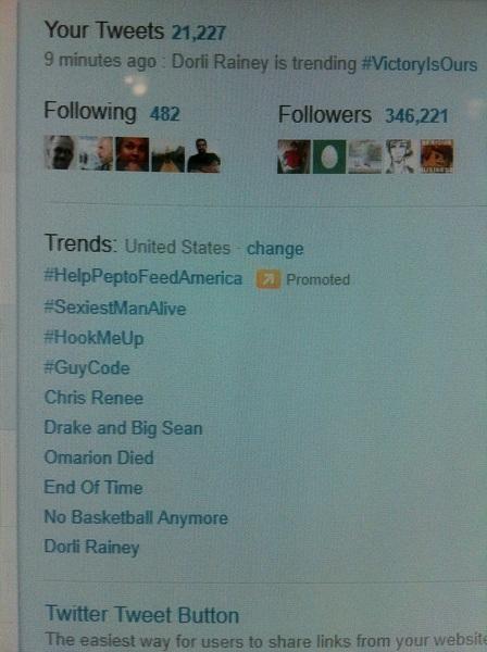 There's Dorli Rainey trending!