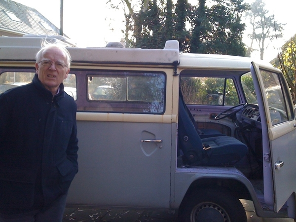My Dad and his new Volkswagen bus.
