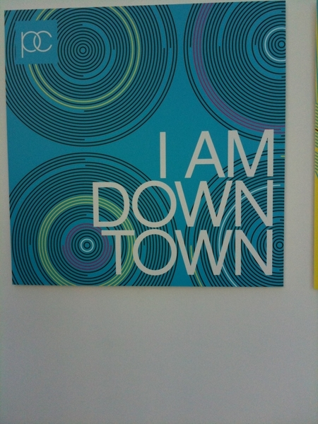 I am downtown!