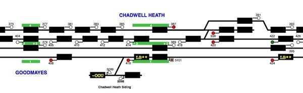GEML Blocked at Chadwell Heath