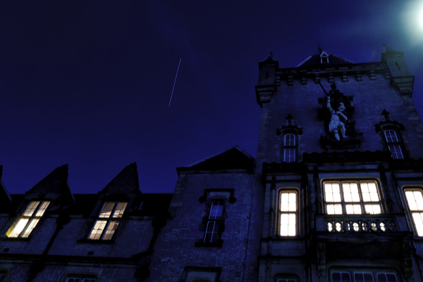 #ISS over my office just now (no tripod) #skywatch