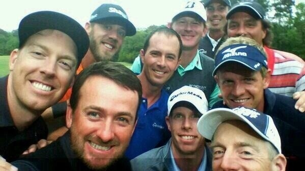 Here was the actual #selfie from our @RBC day yesterday. Picked the guy with short arms to take the pic? #gmac