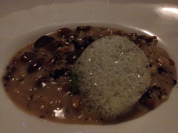 Mision 19: risotto w heirloom beans, huitlacoche, epazote air