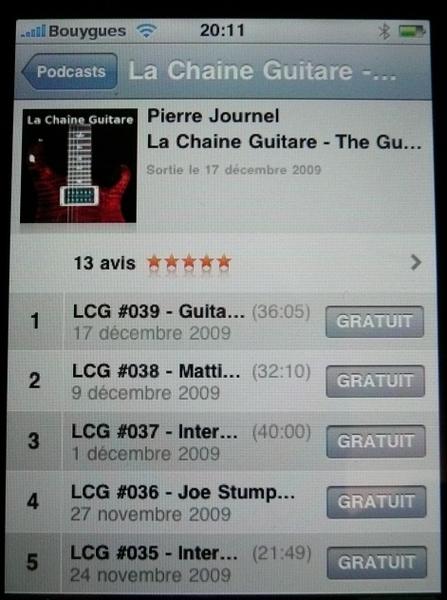 @lachaineguitare Exact c'est ok depuis mon mac, pas depuis l'iPhone (podcasts, actualiser...) !!??