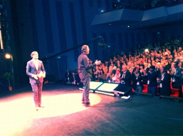 * Rounding up... Melvin Samsom and @lucienengelen... #TEDxMaastricht