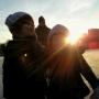 Amelie en Thijs op het ijs