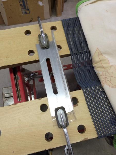 テノリオンホルダーの製作、アルミ削り