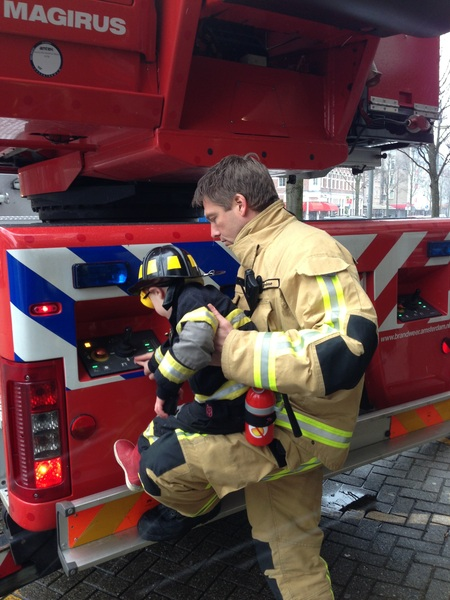 Fletcher of the day: Helping the fireman