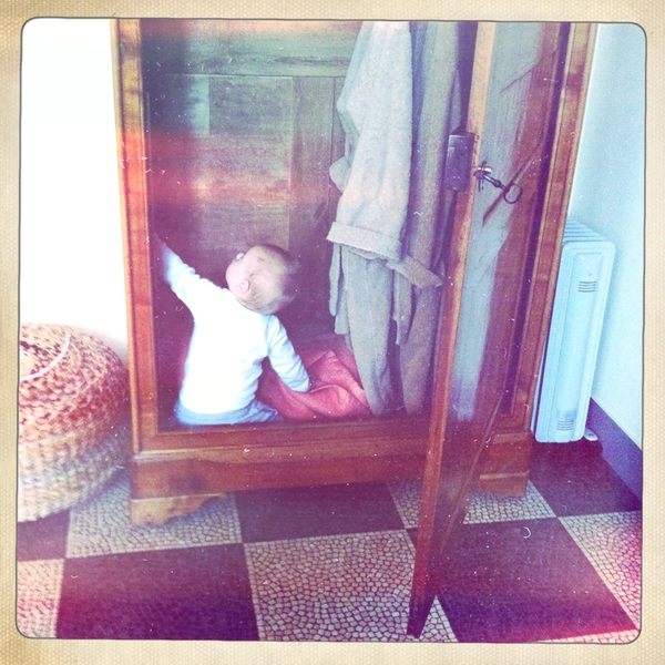 Fletcher of the day: looking for Narnia.