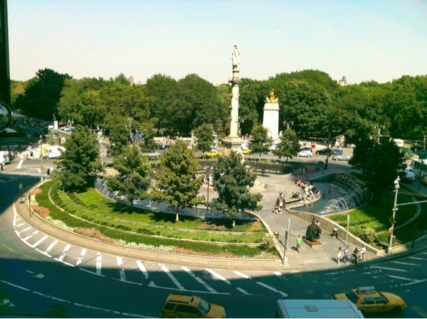 Columbus Circle New York View from E Voce