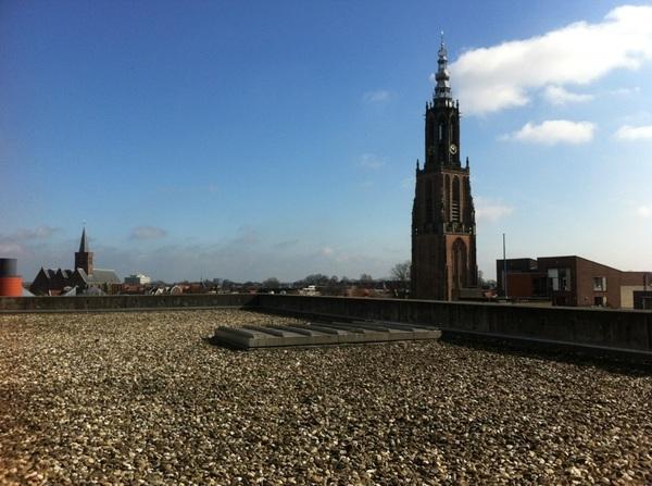 Lunchpauze op het dak van #discover033 in hartje binnenstad!