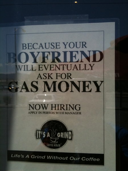 RT @VegasMMAWarrior: Just saw the funniest now hiring sign ever lol