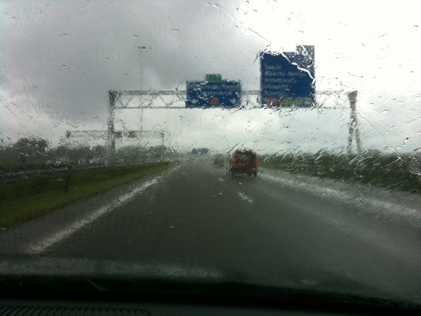 On the way to schiphol airport to travel back to hong kong