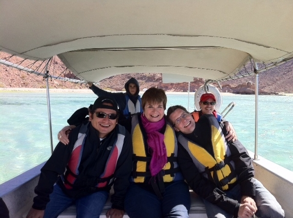 Hi-lites of Baja TV Scout: our crew coming back from island (1 1/2 hrs by boat)