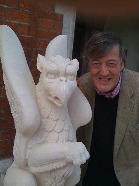 Had honour of unveiling Bletchley Park griffins. #bpark  http://bit.ly/Ou4Pl