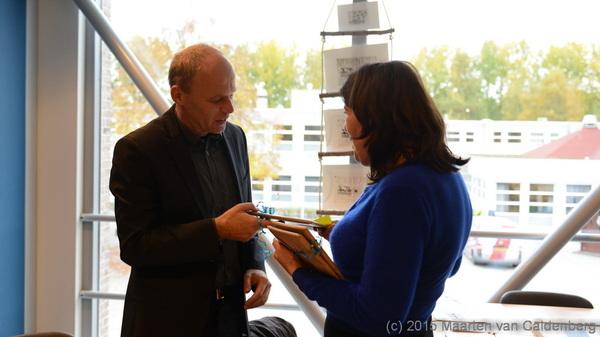 Vanmiddag was #boekpresentatie @judithrosema & #bertramwestera @rodenborch overhandiging 1e exempl oa aan @JandeWitDB