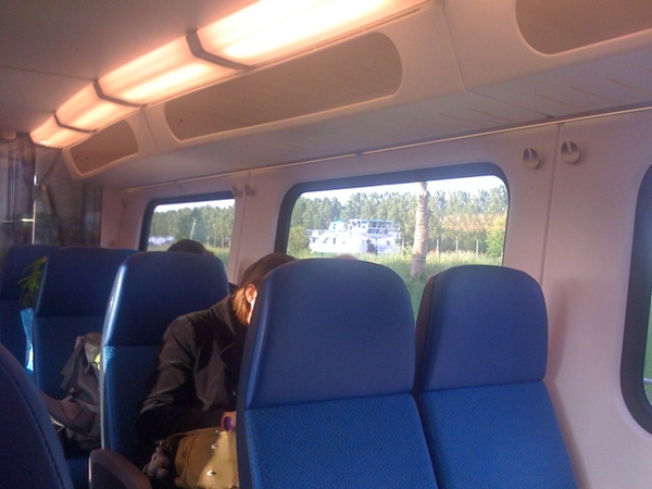 Stuck in train bc of technical problem creates inexpected moment of rest&relaxation