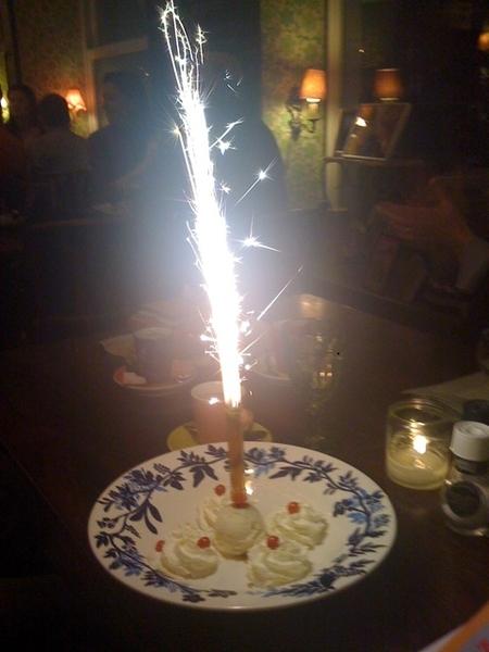 Celebrating my birthday at restaurant Moeders!