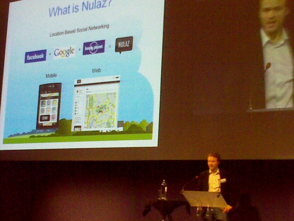 13th startup: NULAZ = facebook + google.maps + lonely planet (just sawn in paris at #lemobile20) #plugg09
