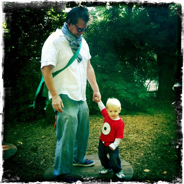 Fletcher of the day: with papa at Artis