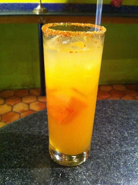 New drink tonight in Frontera/Topolo: El Mural: muddled grapefruit/lime/orange, simple, Fidencio sin humo mezcal