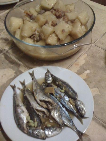 Dinner is served! Guisado Gabbi and Pinangat Tamban!