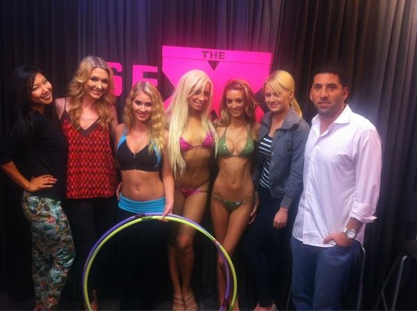 Great fun today with @annasophiab, @hiromioshima, @pblaurenvolker, @annGotti & @PlayboyLiveJami! #TheSexFactor!