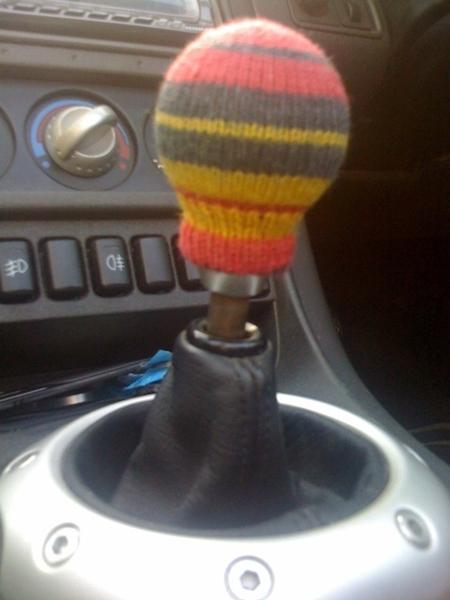 Gearstick knob cosy!