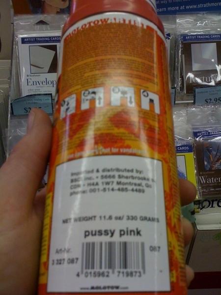New Molotaw spray paint colour. Ummmm...