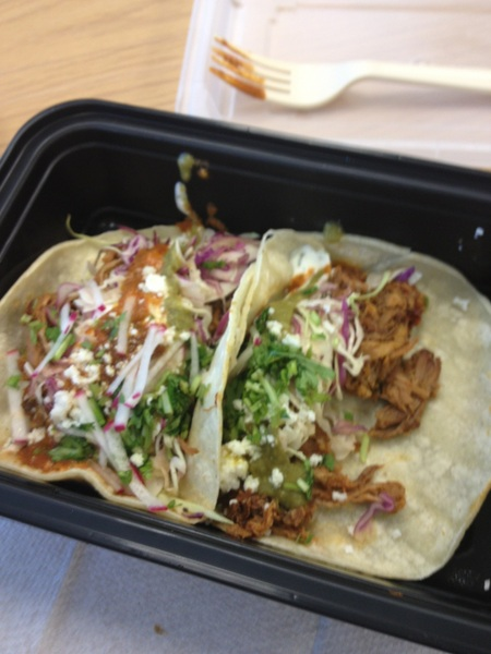 Some yummy carnitas tacos from @Cirquecuisine! Yum!