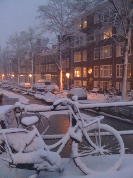 Beautiful Bloemgracht in the snow
