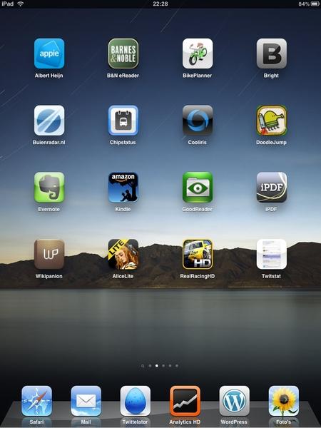 Ben blij met mijn #twitstat app op de iPad